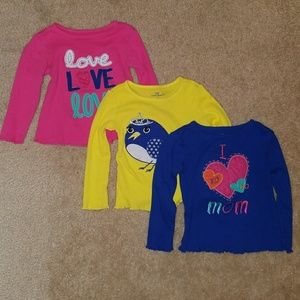 Okie dokie long sleeve ribbed shirts 2t